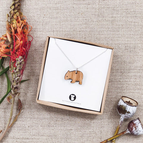 Buttonworks Australia Dinky Wombat Necklace