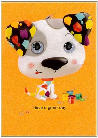 Have a great day puppy dog card