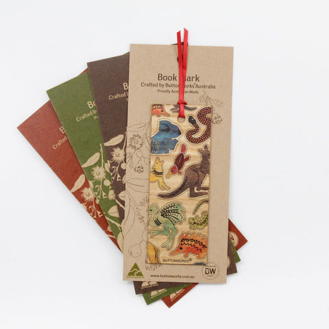 Buttonworks Coloured Animals Bookmark