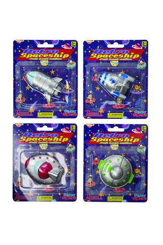 Pull Back Retro Space Craft (assorted)