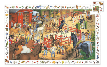 Djeco Horse Riding 200pc Observation Puzzle