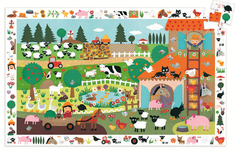 Djeco Farm 35pc Observation Puzzle