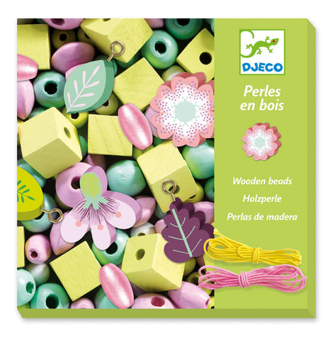 Djeco Leaves and Flowers Wooden Beads