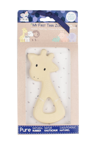 Rubber Giraffe Zoo Teether- Display Box