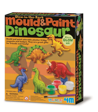 4m Glow in the Dark Mould & Paint Dinosaurs