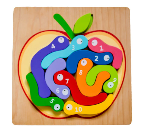 Kiddie Connect 123 Worm Puzzle
