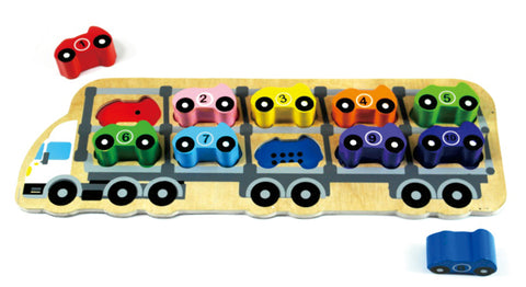 Kiddie Connect 1-10 Car Puzzle