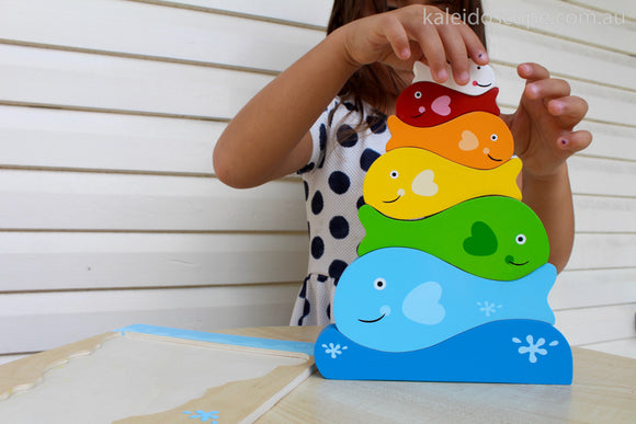 Kiddie Connect Fish Stacker Puzzle