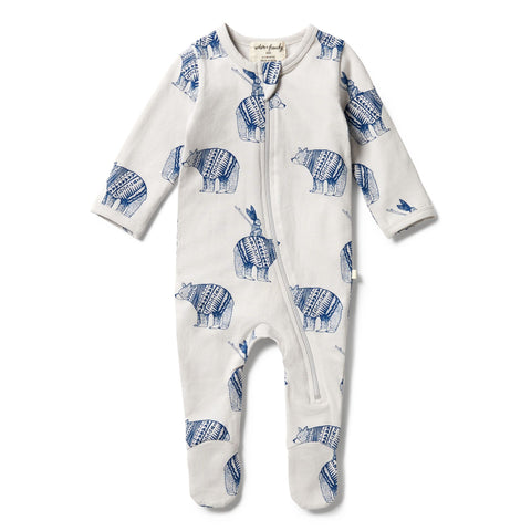 Wilson & Frenchy Organic Zipsuit Little Adventures