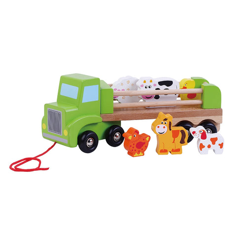 Wooden Farm Truck w/ Animals Toyslink
