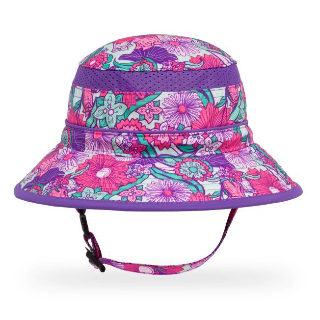 Kids Bucket Hat Flower Garden