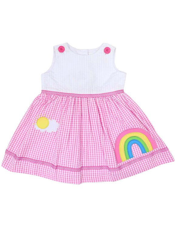 Korango Rainbow Dress ( pink)