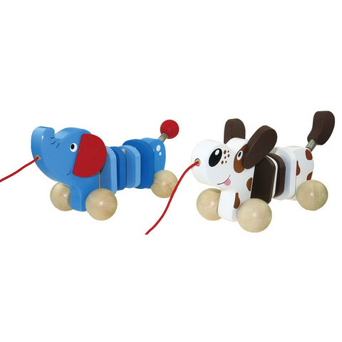 Dog or Elephant Pull Along Toy Toyslink