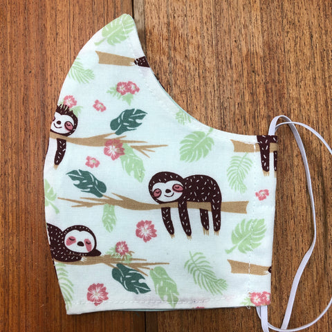 Handmade Face Mask - Sloths
