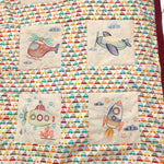 Rudi Patootie Handmade 9 Square Machine Embroidered Quilt