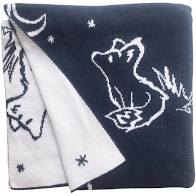 Babu Cotton Fox Blanket Navy (Reversible)