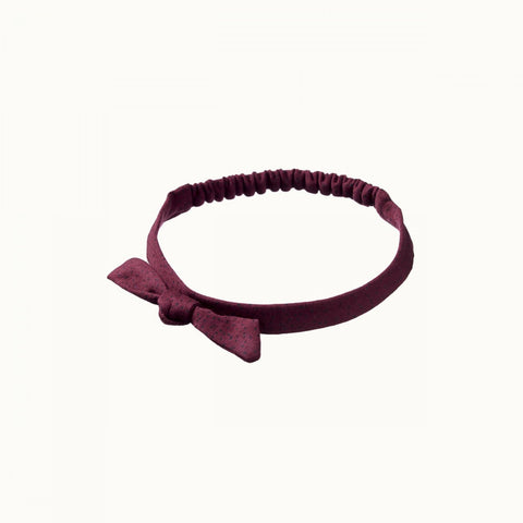 Stretch Jersey Bow Headband - Mulberry