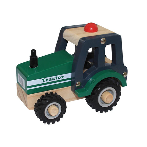 Wooden Tractor Green Toyslink