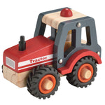 Wooden Tractor Red Toyslink