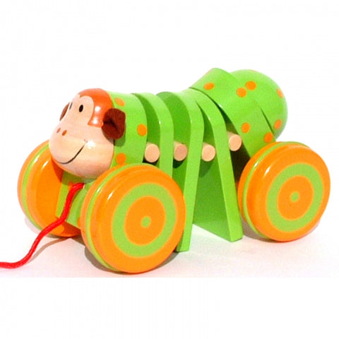 Pull Along Monkey Toyslink