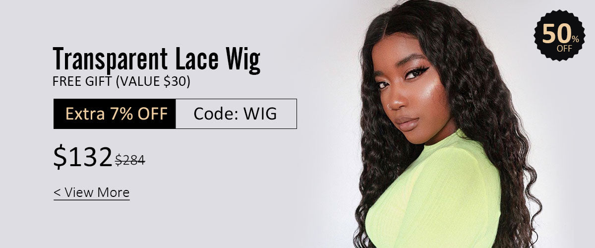 Transparent lace wig