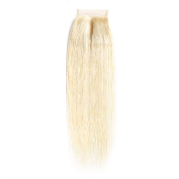 #613 Blonde 4*4 Lace Closure Straight - CEXXY Hair