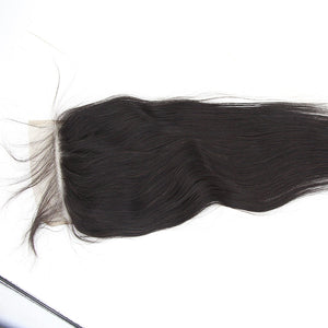 7x7 Closure Swiss Lace Straight Uprocessed Human Virgin Hair