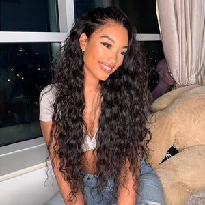 Natural Wave Full Lace Wig With Baby Hair 100% Human Hair Wigs - cexxyhair.com