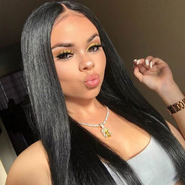 Straight Full Lace Wig With Baby Hair 100% Human Hair Wigs - cexxyhair.com