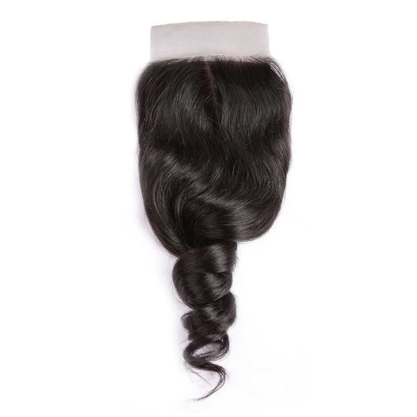 CEXXY Hair 4*4 Brazilian Hair Silk Base Closure Loose Wave - cexxyhair.com