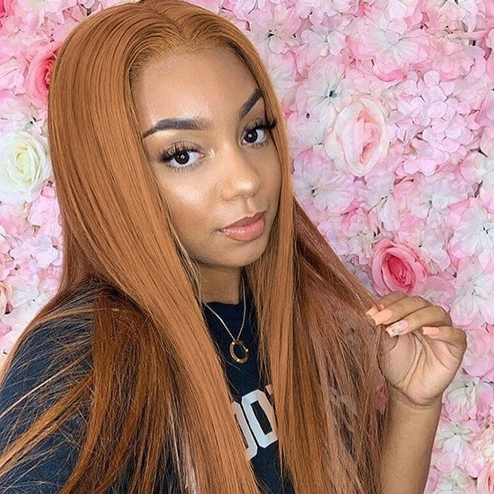 CEXXY HAIR #30 COLORED HUMAN HAIR LACE WIG STRAIGHT