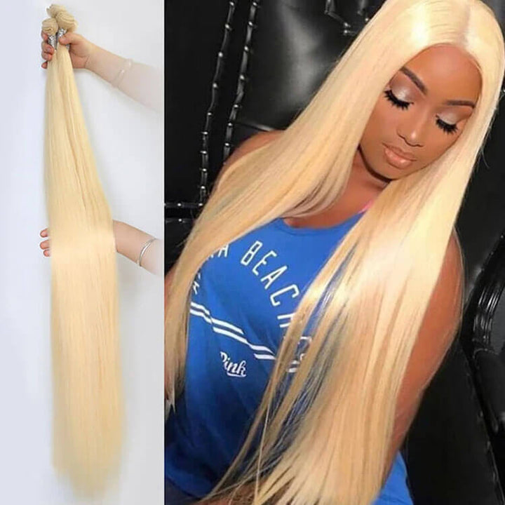 613 Blonde Straight Long Hair Series Virgin Hair Bundle Deal Cexxy Hair