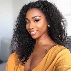 Deep Wave Full Lace Wig With Baby Hair 100% Human Hair Wigs - cexxyhair.com
