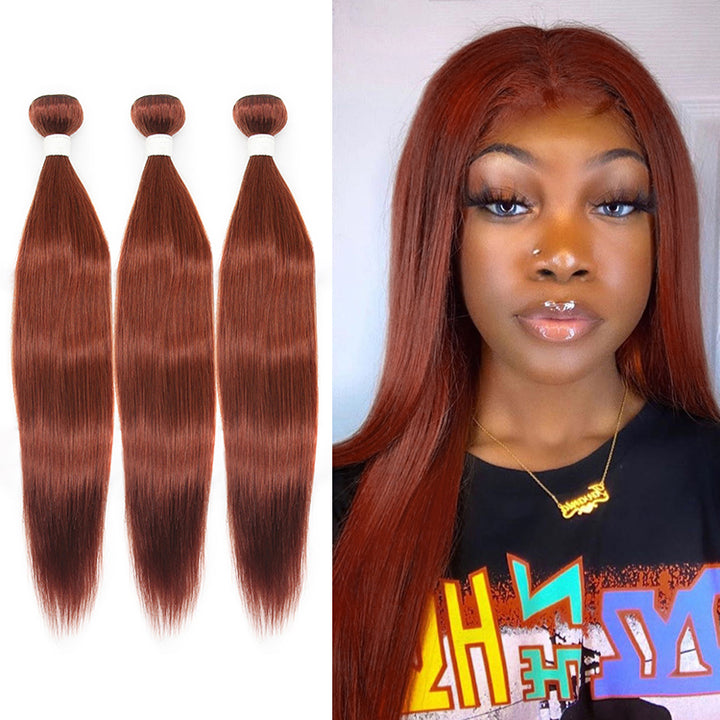 Cexxy Virgin Hair #33 Colored Hair Extension Straight Bundle Deal