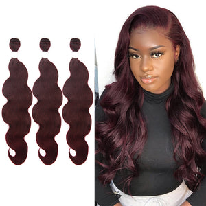 #99J Colored Body Wave Hair Extension Bundle Deal