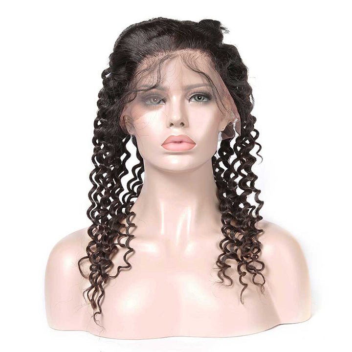 CEXXY Hair 360 Lace Frontal Human Hair Deep Wave - cexxyhair.com