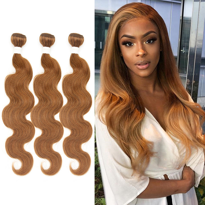 CEXXY VIRGIN HAIR #30 COLORED HAIR EXTENSION BODY WAVE BUNDLE DEAL
