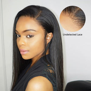 Transparent Invisible Lace Front Wig Straight 13x6 Undetected Lace Frontal - cexxyhair.com
