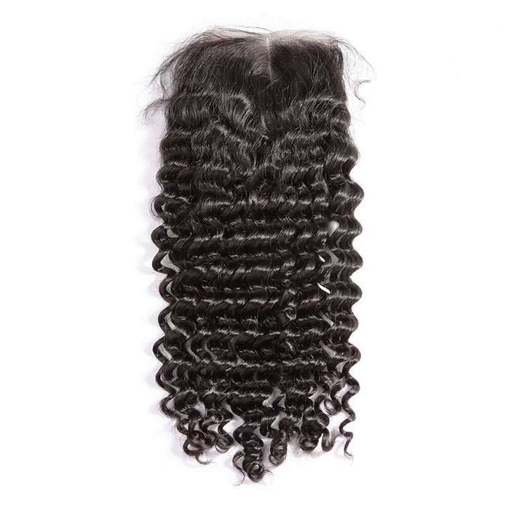 CEXXY Hair 4*4 Brazilian Hair Lace Closure Deep Wave - cexxyhair.com