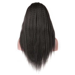 KINKY STRAIGHT LACE FRONT WIG HIGH DENSITY HUMAN HAIR WIG - cexxyhair.com