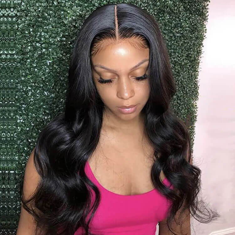 Body Wave 360 Lace Wig Pre Plucked With Baby Hair Human Hair Wigs
