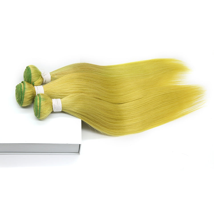 Cexxy Virgin Hair Green Colored Hair Extension Straight Bundle Deal
