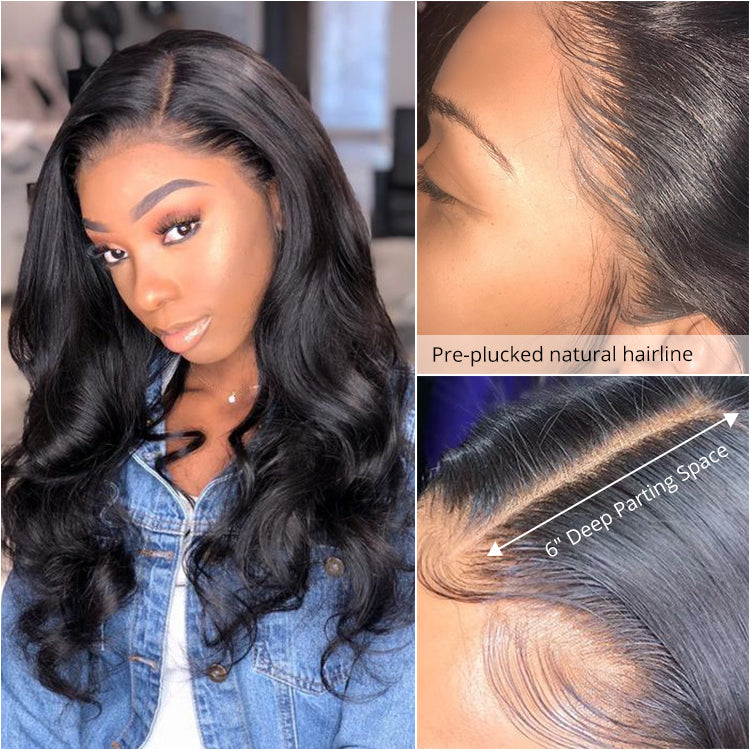 Cexxy hair 9A Body Wave 13x6 lace front wig virgin hair Upgraded 2.0