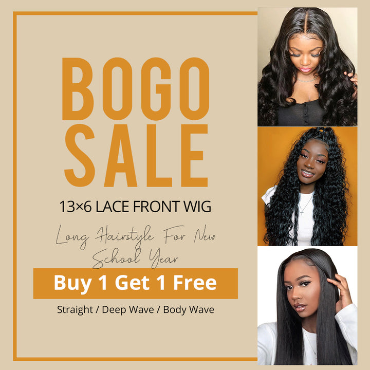 BOGO Sale 9A 13x6 lace front wig virgin hair
