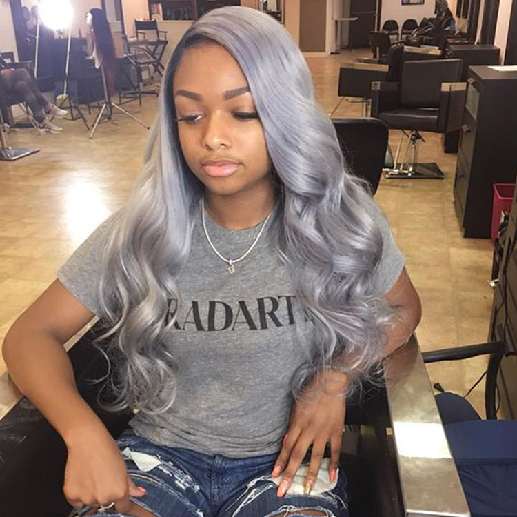 Silver Color Body Wave Virgin Hair Extension Bundle Deal
