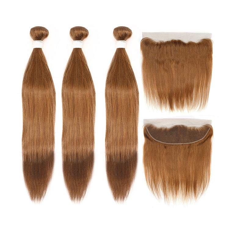 Cexxy Virgin Hair #30 Colored Hair Extension Straight Bundle Deal