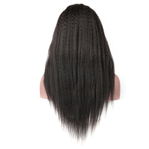 Kinky Straight 13x4 Lace Front Wig 4x4 Closure Wigs 150% 200% 250% 300% Density - cexxyhair.com