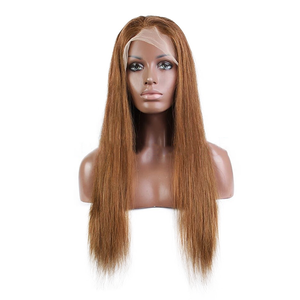 #30 Colored Straight Human Hair Lace Wig 180% Density