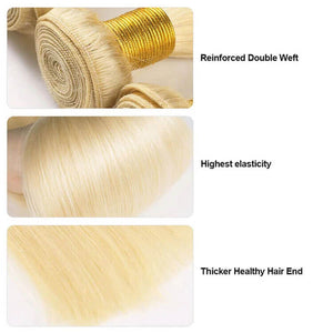 #613 Blonde Straight Long Hair Series Virgin Hair Bundle Deal Cexxy Hair