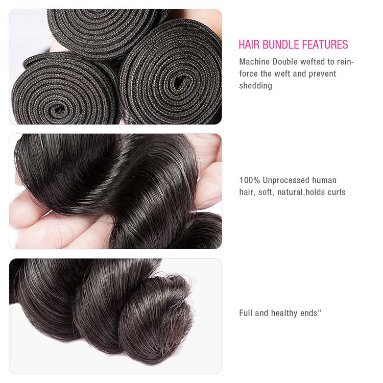 CEXXY Luxury Series Virgin Hair Loose Wave Bundle Deal - cexxyhair.com